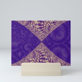 Intersection of abstract purple fractal forms Mini Art Print