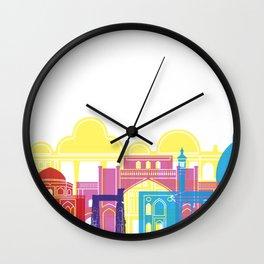 Shiraz skyline pop Wall Clock