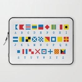 Nautical Flags Maritime Signals Alphabet Laptop Sleeve