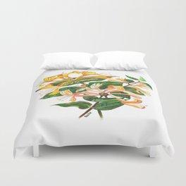 Honeysuckle Bouquet Duvet Cover