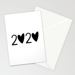 cute new year 2020 Stationery Cards