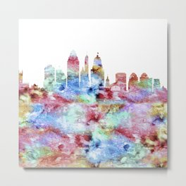 Cincinnati City Skyline Ohio Metal Print