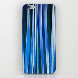 Harmony and Peace Blue Striped Abstract Pattern iPhone Skin