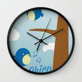 Chirp. Wall Clock
