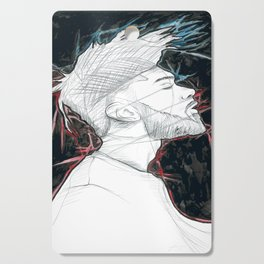 Man Portrait | Black and White Cutting Board