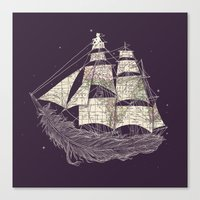 ilovedoodle Canvas Prints featuring Wherever the wind blows by I Love Doodle
