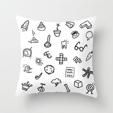 VARIOUS OBJECTS Throw Pillow