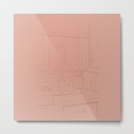 Peach Kitchen Metal Print