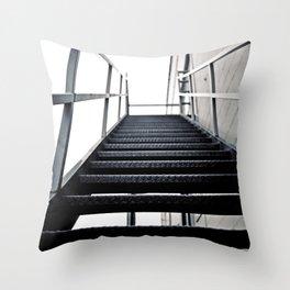 Urban stairwell Throw Pillow