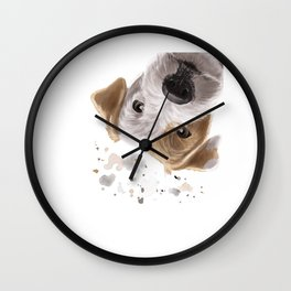 Curious Parson Russell Terrier Dog Wall Clock