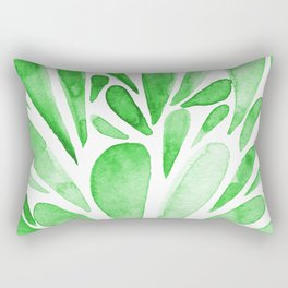 Watercolor artistic drops - green Rectangular Pillow