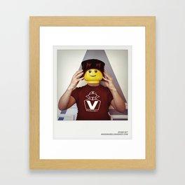 Minifig me ! – Everyone has a LEGO piece inside - 8 Framed Art Print