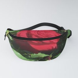 Deep Red Rose Fanny Pack