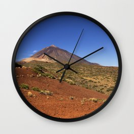 Mount Teide peak on Tenerife above the clouds Wall Clock