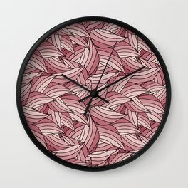 PALE DOGWOOD LEAVES B (abstract flowers nature) Wall Clock