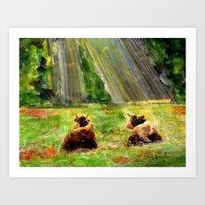 Cows of Bavaria Art Print