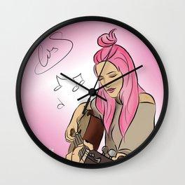 Alba with guitar - Sweet California Wall Clock