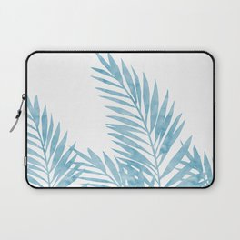 Palm Leaves Light Blue Laptop Sleeve