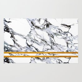 Marble and Golden Stripes Rug