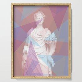 Geometric Goddess Serving Tray