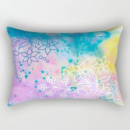 Watercolour abstract floral 4 Rectangular Pillow