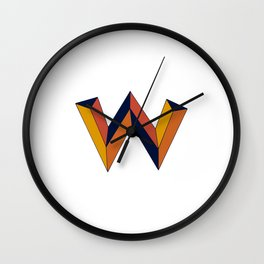 The W Letter Wall Clock
