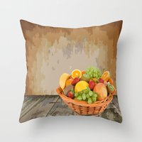 fruit Throw Pillows featuring fruit by Shea33