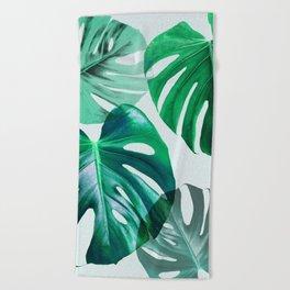 Monstera 1 Beach Towel