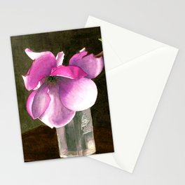 Magnolia in Glass Vase Stationery Cards