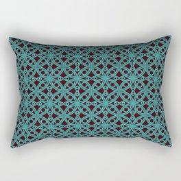 Elegant Aqua Moroccan Geometric Design Rectangular Pillow
