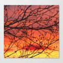 Spring Sunset Branches Silhouette #decor #society6 by pivivikstrm