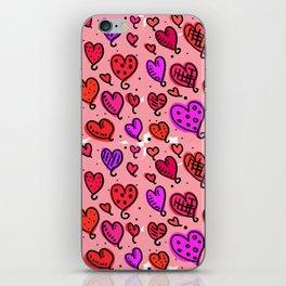 Love Heart Doodles iPhone Skin