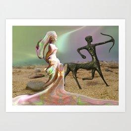 Aphrodite & Cupido Art Print