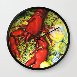 Lobster and Wine Wall Clock