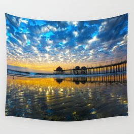 Huntington Beach Sunset   12/17/13   Wall Tapestry