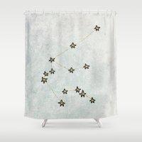 aquarius Shower Curtains featuring Aquarius by Leah Flores