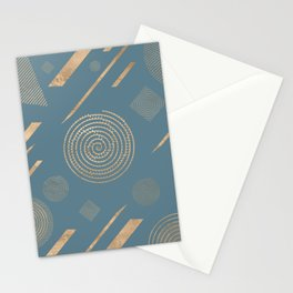 Blueprint Geometric Pattern 6 Stationery Cards