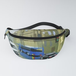 Cityscape, the street after the rain. Fanny Pack