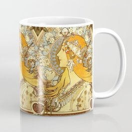 """Alphonse Mucha """"Zodiac"""" Coffee Mug"""