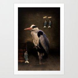 Heron's home Art Print