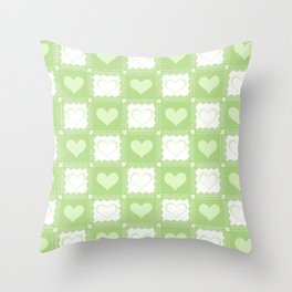 Love is Green Throw Pillow