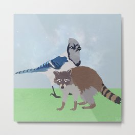 Mordecai and Rigby Metal Print