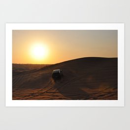 Dune Bashing  Art Print