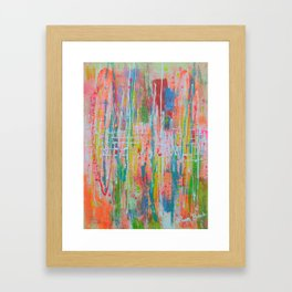 Wildflowers - abstract expressionism prophetic art - contemporary modern art Framed Art Print