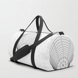 Black and white mystic universe Duffle Bag