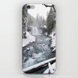 The Wild McKenzie River Waterfall - Nature Photography iPhone Skin