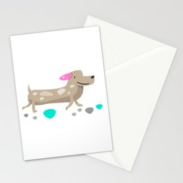 Sausage dog Stationery Cards
