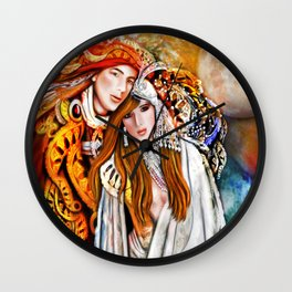Twin Flame  Wall Clock