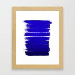 Shel - abstract painting painterly brushstrokes indigo blue bright happy paint abstract minimal mode Framed Art Print