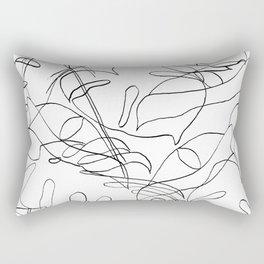 Botanical Black Rectangular Pillow